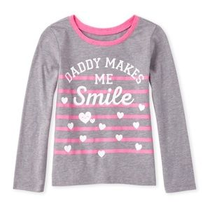 NWT Children's Place Gray/Pink Long Sleeve Top 2T